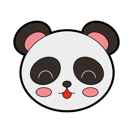 cute color panda bear face graphic design