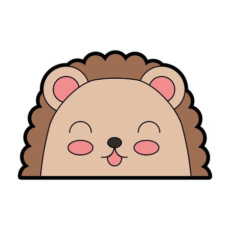simple life: cute color armadillo face cartoon graphic design