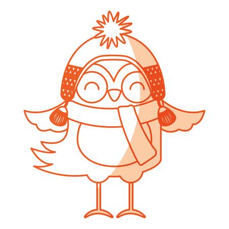 cute shadow christmas bird cartoon vector graphic design