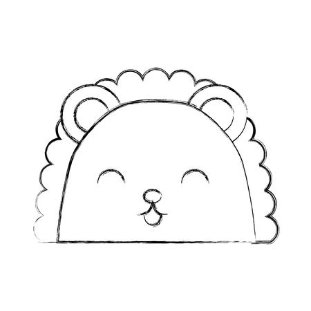 simple life: cute sketch draw armadillo face cartoon graphic design