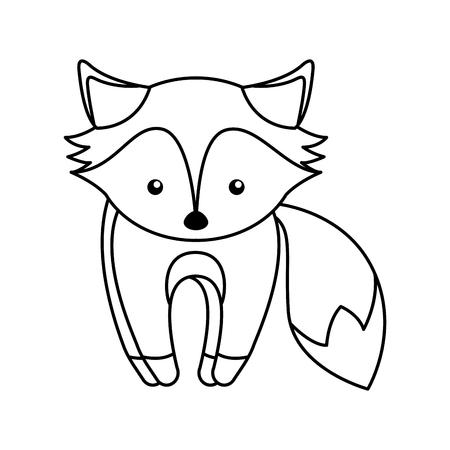 simple life: cute line icon cartoon vector graphic design