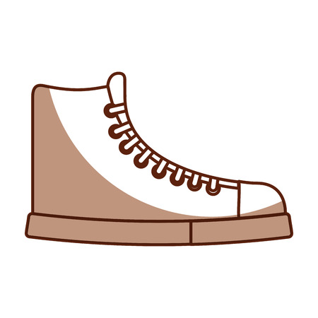 cute shadow boot cartoon vector graphic design Illustration