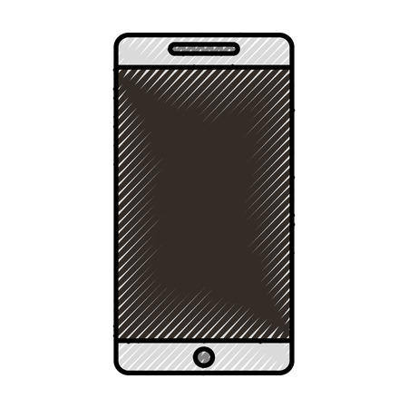 Conception graphique de vecteur de dessin animé mignon gribouillis cellhphone Banque d'images - 79195402