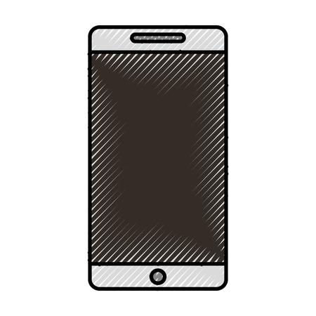 using smartphone: cute scribble cellhphone cartoon vector graphic design