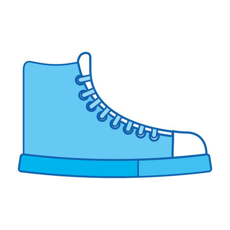 cute blue icon boot cartoon vector graphic design Illustration