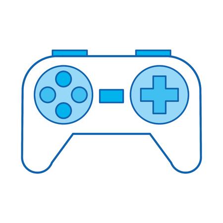 青いアイコン コントロール ゲーム漫画ベクトル グラフィック デザイン  イラスト・ベクター素材
