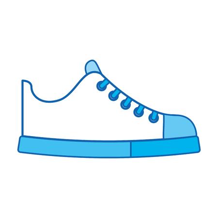 cute blue icon shoe cartoon vector graphic design Illustration
