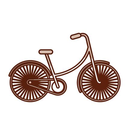 shadow vintage bicycle cartoon vector graphic design