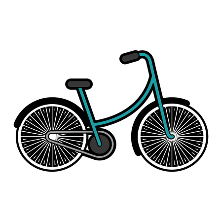 blue vintage bicycle cartoon vector graphic design Illustration
