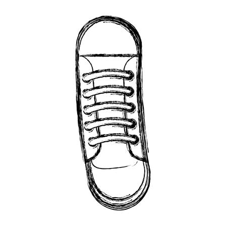 cute sketch draw shoe cartoon vector graphic design