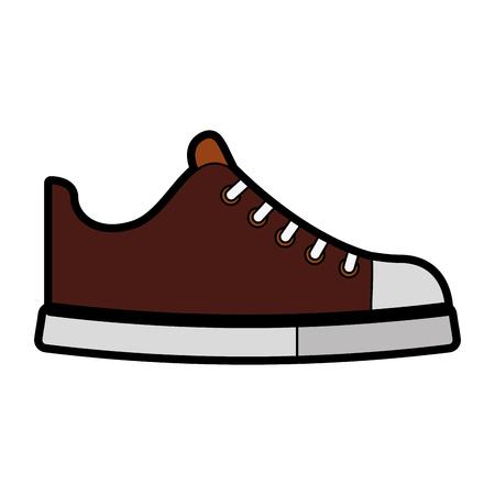 cute brown shoe cartoon vector graphic design
