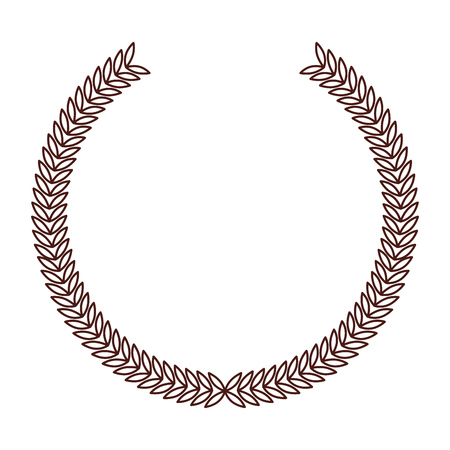 Icona di emblema tondo marrone disegno vettoriale grpahic Archivio Fotografico - 79195636