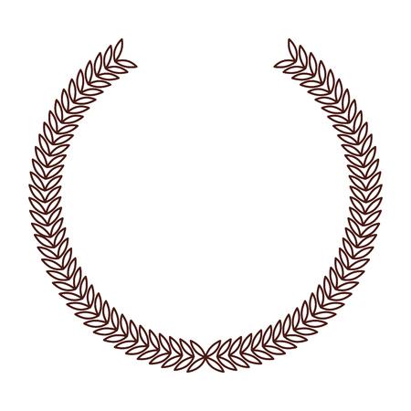 brown round emblem icon vector grpahic design Illustration