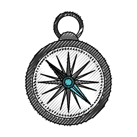 latitude: scribble grey compass cartoon vector graphic design Illustration