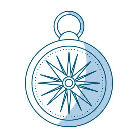 shadow blue compass cartoon vector graphic design Ilustrace