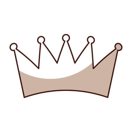 sahdow crown symbol icon vector graphic design Ilustrace