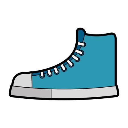 cute blue boot cartoon vector graphic design Illustration