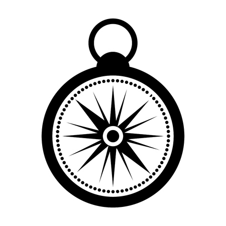 latitude: black icon compass cartoon vector graphic design