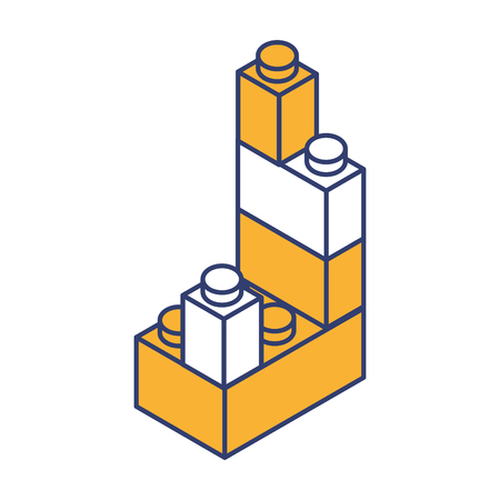 toy building block bricks vector graphic design Illustration