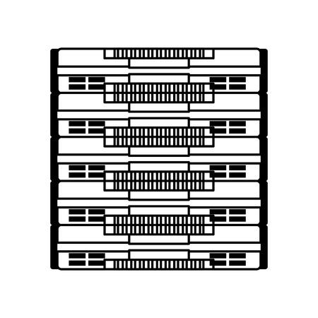 Icône de ligne serveur dessin animé dessin graphique graphique Banque d'images - 79196960