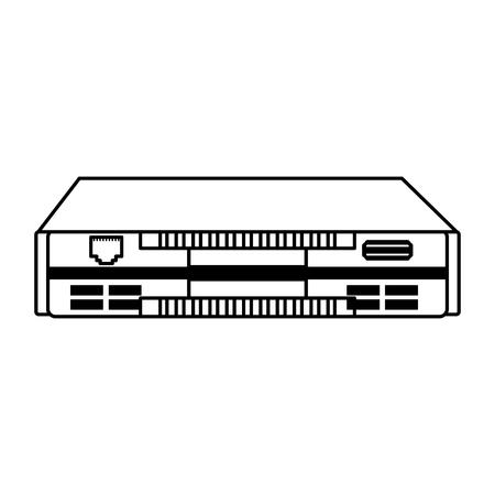 line icon black modem cartoon vector graphic design