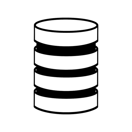 line icon Storage database disks vector graphic design