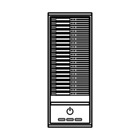 ラインのアイコン cpu 漫画ベクトル グラフィック デザイン