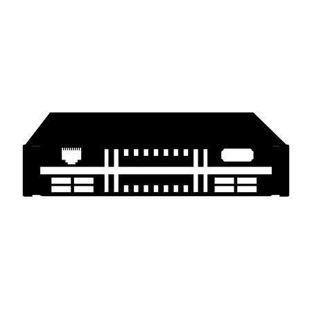 검정 아이콘 검은 모뎀 만화 벡터 그래픽 디자인