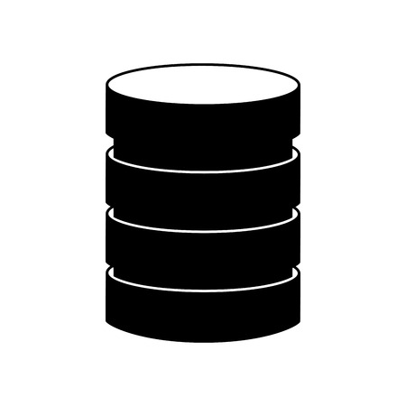 black icon Storage database disks vector graphic design