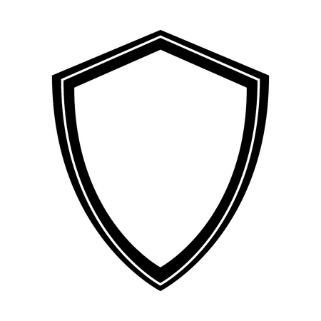 black icon shield cartoon vector graphic design Illustration