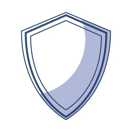 shadow blue shield cartoon vector graphic design