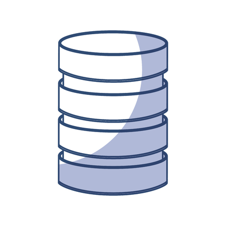shadow blue Storage database disks vector graphic design Illustration