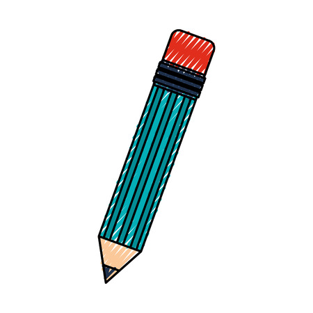 scribble blue pencil cartoon vector graphic design