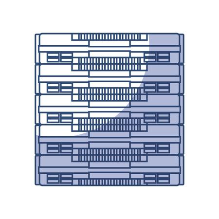 shadow blue server cartoon vector graphic design Illustration