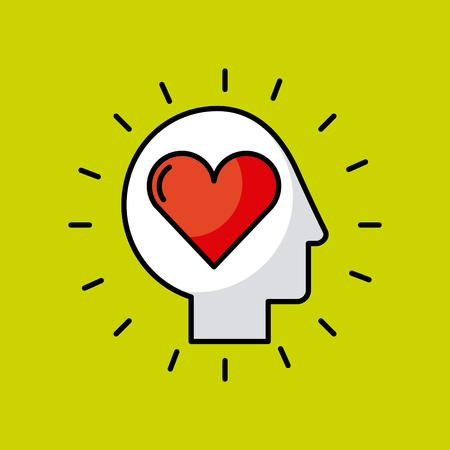 head heart illustration icon vector desgn graphic Illustration
