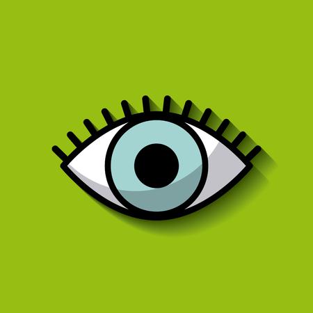 single blue eye image vector illustration design