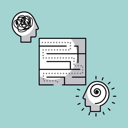 maze solution concept image vector illustration design