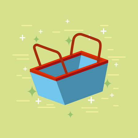 shopping basket flat icon vector illustration design graphic