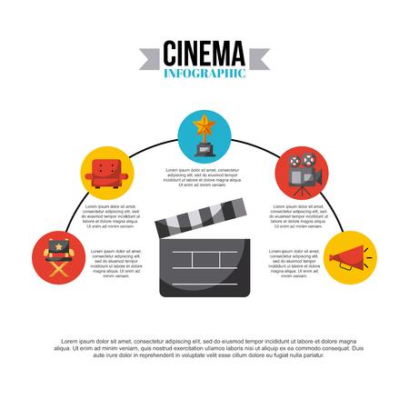 inphografic cinema and movies art icon vector illustration design graphic Illustration