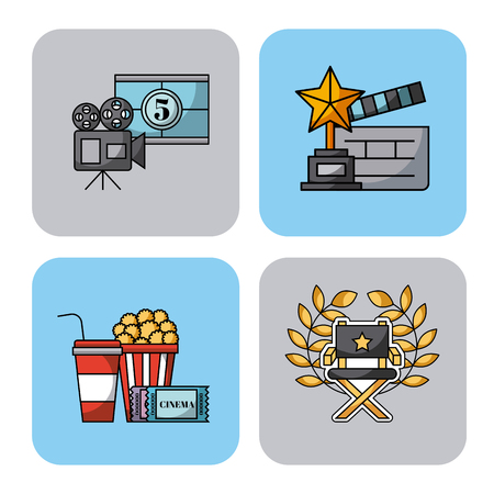 icons set movies vector icon illustration design graphic Illustration