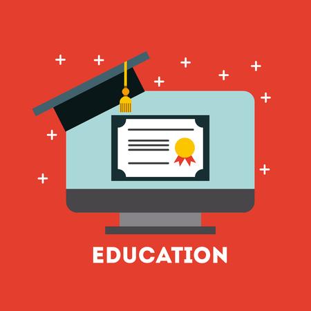 student graduate flat icon vector illustration design graphic Illustration