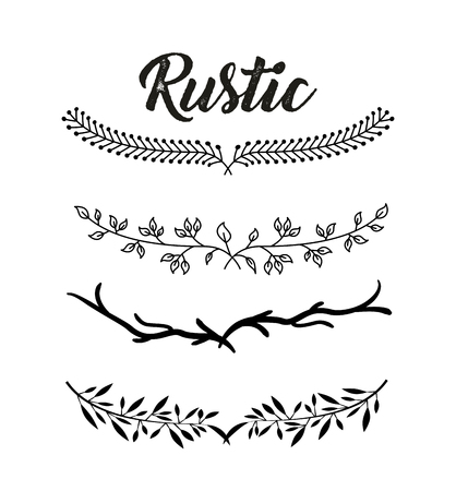 decorative rustic vintage collar vector icon illustration design graphic