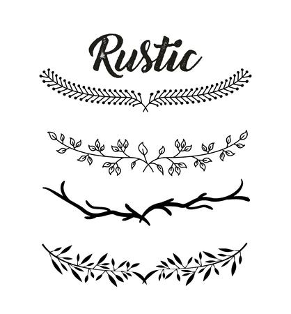 decorative rustic vintage collar vector icon illustration design graphic