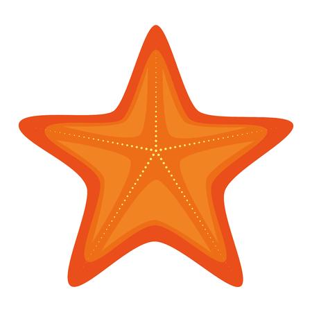 finger fish: starfish summer isolated icon vector illustration design Illustration