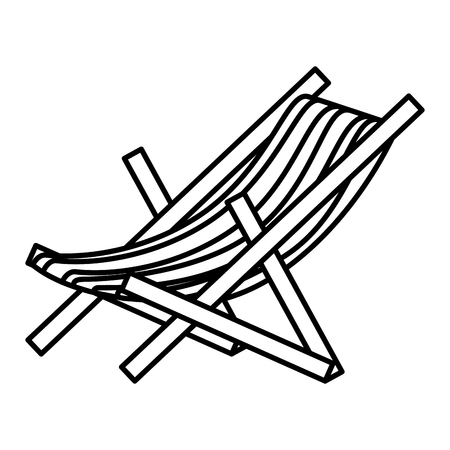 beach chair isolated icon vector illustration design Stock fotó - 79266636