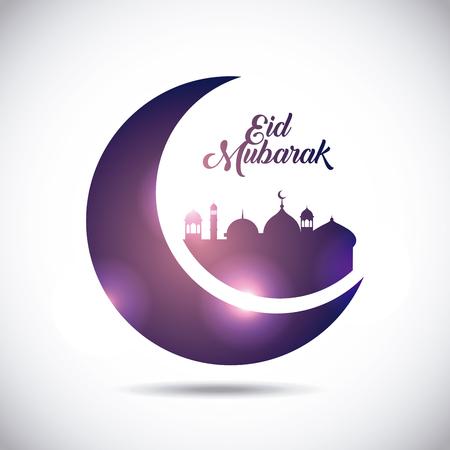 eid mubarak background icon vector illustration design graphic Illustration