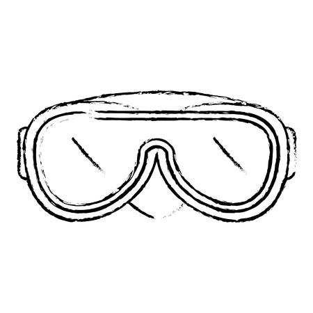 swimming goggles isolated icon vector illustration design