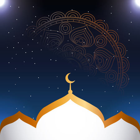 eid mubarak background icon vector illustration design graphic Illustration