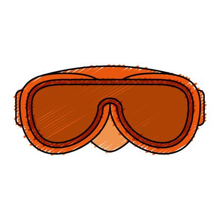 swimming googles isolated icon vector illustration design