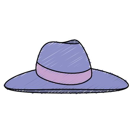 elegant female summer hat vector illustration design Illustration